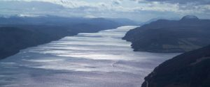 Effets de gel sur la Loch Ness