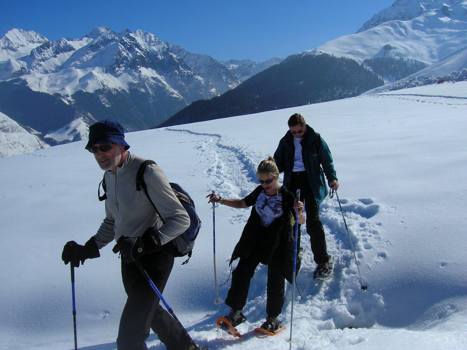 Raquettesà neige Loudenvielle vallée du Louron,